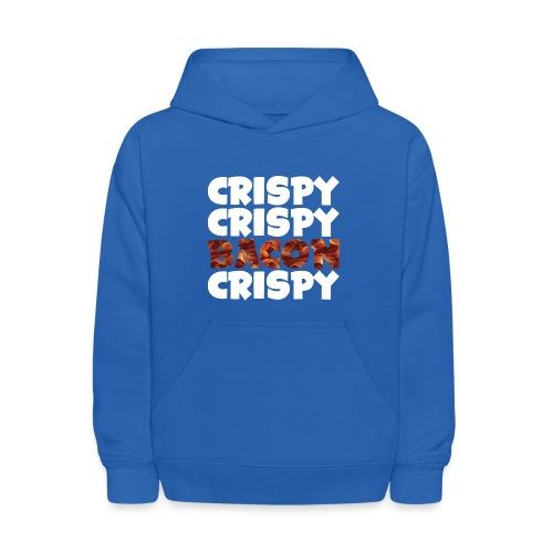 Kid's Crispy, Crispy, Bacon, Cripsy (White) - Kids' Hoodie