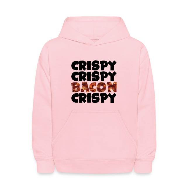 Kid's Crispy, Crispy, Bacon, Cripsy (Black)