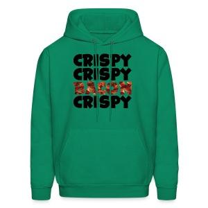 Men's Crispy, Crispy, Bacon, Cripsy (Black) - Men's Hoodie