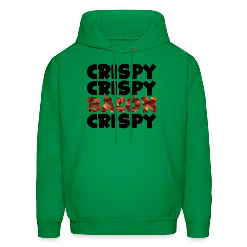 Men's Crispy, Crispy, Bacon, Cripsy (Black) - Men's Hoodie