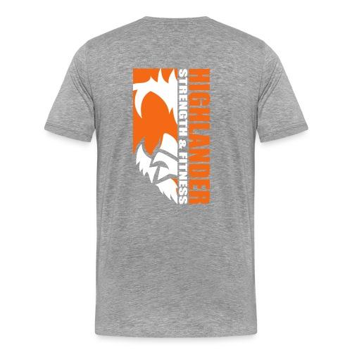 Highlander narrow face (front and back) - Men's Premium T-Shirt