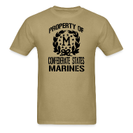 T-Shirts ~ Men's T-Shirt ~ Property Confederate States Marines Mens Gildan Shirt