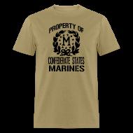 T-Shirts ~ Men's T-Shirt ~ Property Confederate States Marines Mens Gildan Shirt