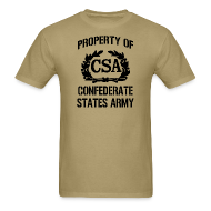 T-Shirts ~ Men's T-Shirt ~ Property Of Confederate States Army Mens Gildan Shirt