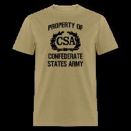 T-Shirts ~ Men's T-Shirt ~ Property Of Confederate States Army Mens Gildan Shirt