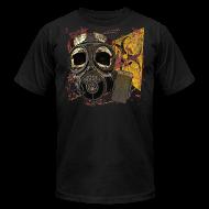 T-Shirts ~ Men's T-Shirt by American Apparel ~ Biohazard Skull Gas Mask on American Apparel  Mens T Shirt