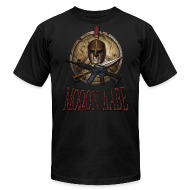 T-Shirts ~ Men's T-Shirt by American Apparel ~ Spartan Skull Helmet Shield Sword: Molon Labe American Apparel Mens T