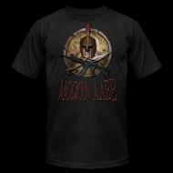 T-Shirts ~ Men's T-Shirt by American Apparel ~ Spartan Skull Helmet Shield Sword: Molon Labe American Apparel Mens T