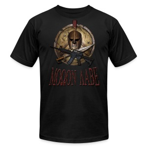 Spartan Skull Helmet Shield Sword: Molon Labe American Apparel Mens T - Men's T-Shirt by American Apparel