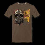 T-Shirts ~ Men's Premium T-Shirt ~ Biohazard Skull Gas Mask Mens Premium T Shirt