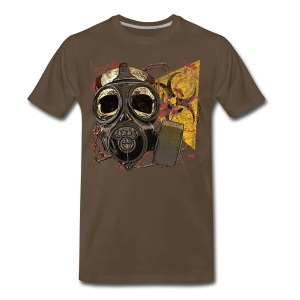 Biohazard Skull Gas Mask Mens Premium T Shirt - Men's Premium T-Shirt