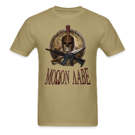 T-Shirts ~ Men's T-Shirt ~ Spartan Skull Helmet Shield Sword: Molon Labe Mens Basic T