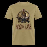 T-Shirts ~ Men's T-Shirt ~ Spartan Skull Helmet Shield Sword: Molon Labe Mens Basic T
