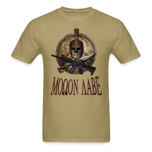 Spartan Skull Helmet Shield Sword: Molon Labe Mens Basic T - Men's T-Shirt