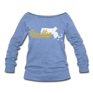 Brockton MA - Women's Wideneck Sweatshirt