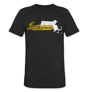 Lawrence MA - Unisex Tri-Blend T-Shirt by American Apparel