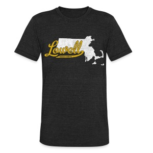 Lowell MA - Unisex Tri-Blend T-Shirt by American Apparel