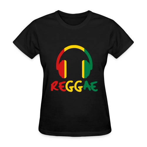 Reggae Headphones (Women) - Women's T-Shirt