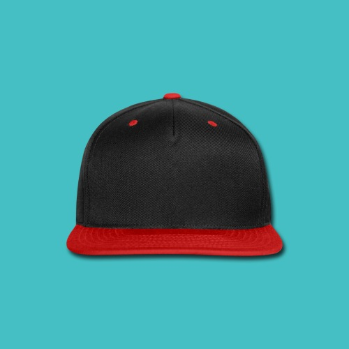 Men's two tone baseball cap in red and black by Yupong - Snap-back Baseball Cap