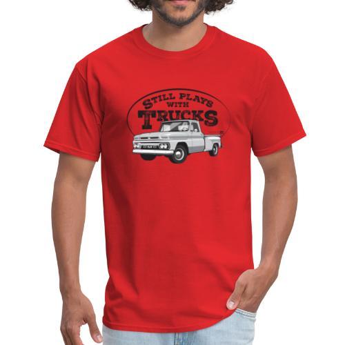 1964 GMC Short Stepside Tee (Black graphic) - Men's T-Shirt