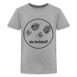 Words to Sweat By Who Fartleked? Kids Tee - Kids' Premium T-Shirt
