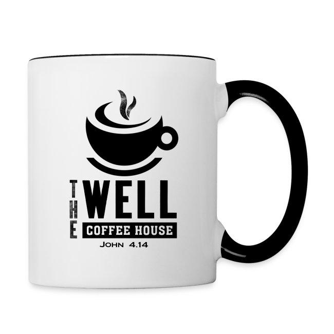 Contrast Coffee Mug, Black Logo