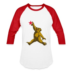 Cali Bear Getting Air - Baseball T-Shirt