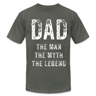 T-Shirts ~ Men's T-Shirt by American Apparel ~ The Dad (distressed)