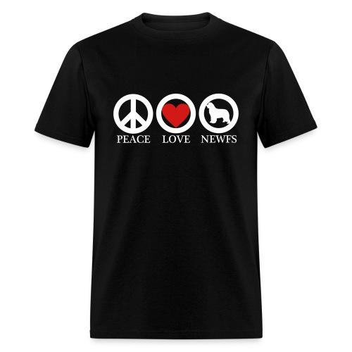 Peace Love Newfoundlands WHT (M) - Men's T-Shirt