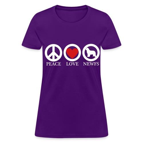 Peace Love Newfoundlands WHT (W) - Women's T-Shirt