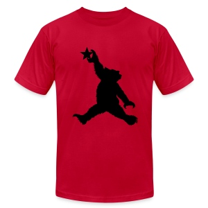 Cali Black Bear Getting Air - Men's Fine Jersey T-Shirt