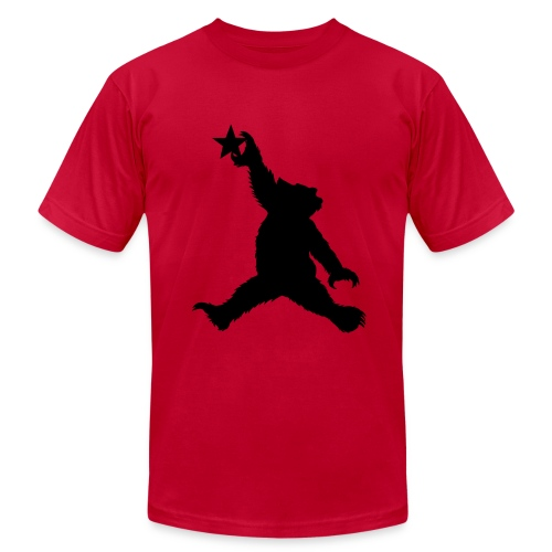 Cali Black Bear Getting Air - Men's  Jersey T-Shirt