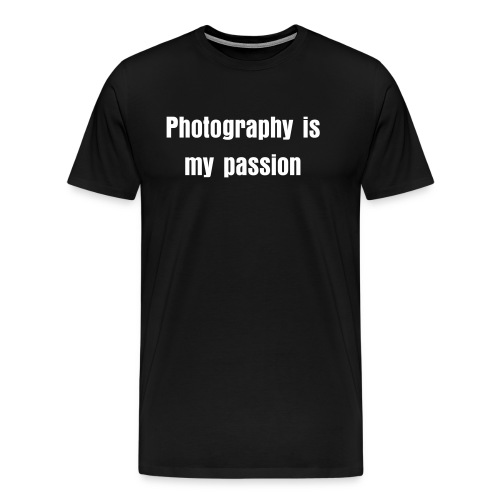 Photography is my passion men's tee (dark) - Men's Premium T-Shirt