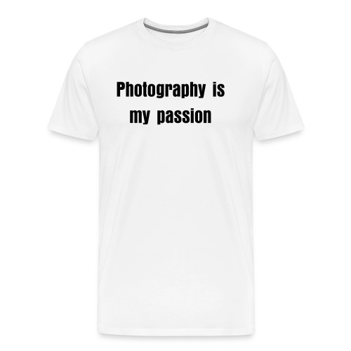 Photography is my passion men's tee (light) - Men's Premium T-Shirt