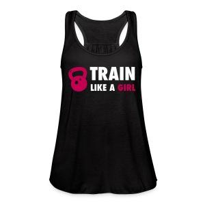 Train Like a Girl Tank - Women's Flowy Tank Top by Bella