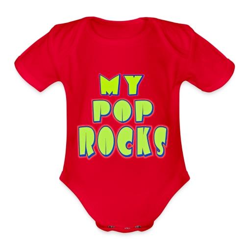 Happy Daddy - Organic Short Sleeve Baby Bodysuit