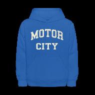 Sweatshirts ~ Kids' Hooded Sweatshirt ~ Motor City Varsity