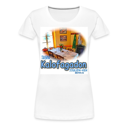 Kalofagadon restaurant-Kea (women) - Women's Premium T-Shirt