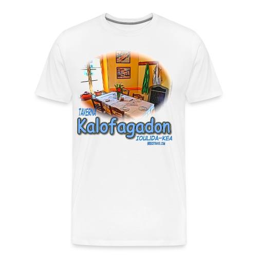 Kalofagadon restaurant-Kea (men) - Men's Premium T-Shirt