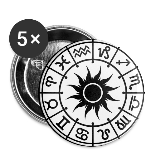 Astrology Wheel Sun - Large Buttons