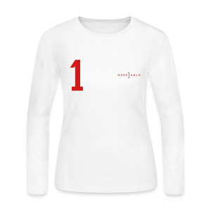 Hope #1 Jersey Long Sleeve Tee - Women's Long Sleeve Jersey T-Shirt