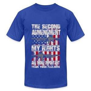 The second admendment, my rights are than feelings - Men's Fine Jersey T-Shirt
