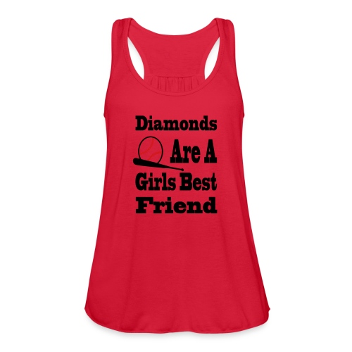 Womens Softball Tanktop - Women's Flowy Tank Top by Bella