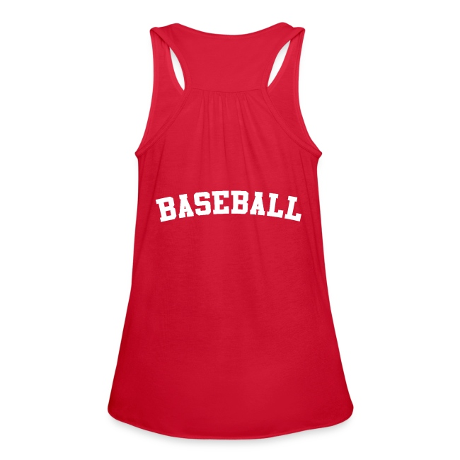 354be18d6c6 ALC Design | Womens Softball Tanktop - Womens Flowy Tank Top by Bella