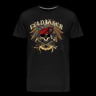 T-Shirts ~ Men's Premium T-Shirt ~ Feldjager Skull w/ Prussian Star