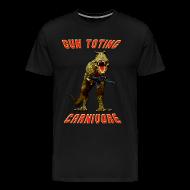 T-Shirts ~ Men's Premium T-Shirt ~ Gun Toting Carnivore II T-Rex