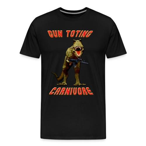Gun Toting Carnivore II T-Rex - Men's Premium T-Shirt