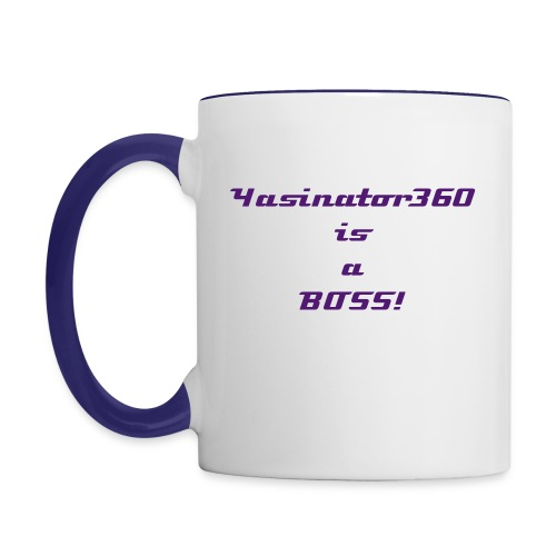 Yasinator360 is BOSS! Coffee Mug - Contrast Coffee Mug