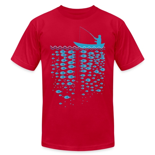 Many Fish So long time red - Men's Fine Jersey T-Shirt