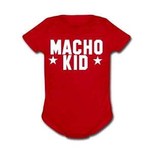Macho Kid - Short Sleeve Baby Bodysuit